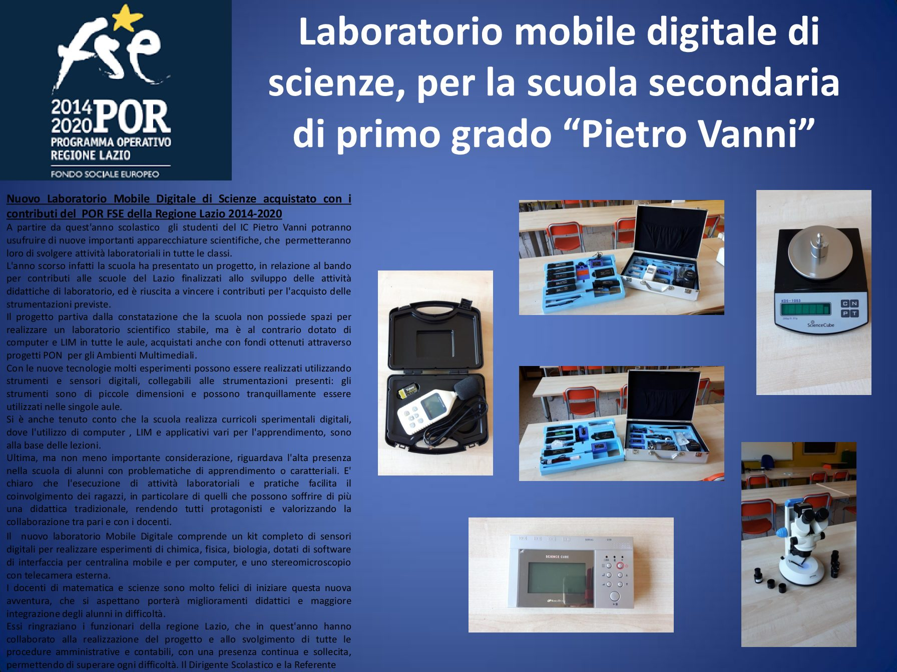 LABORATORIO MOBILE DIGITALE DI SCIENZE